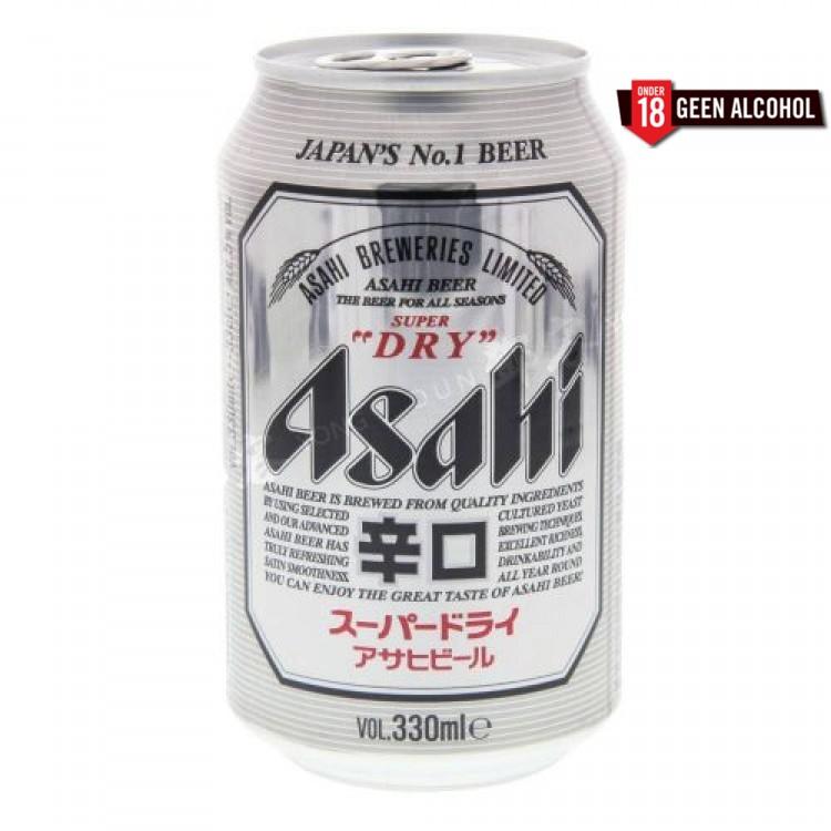 Japans bier Asahi blik/fles