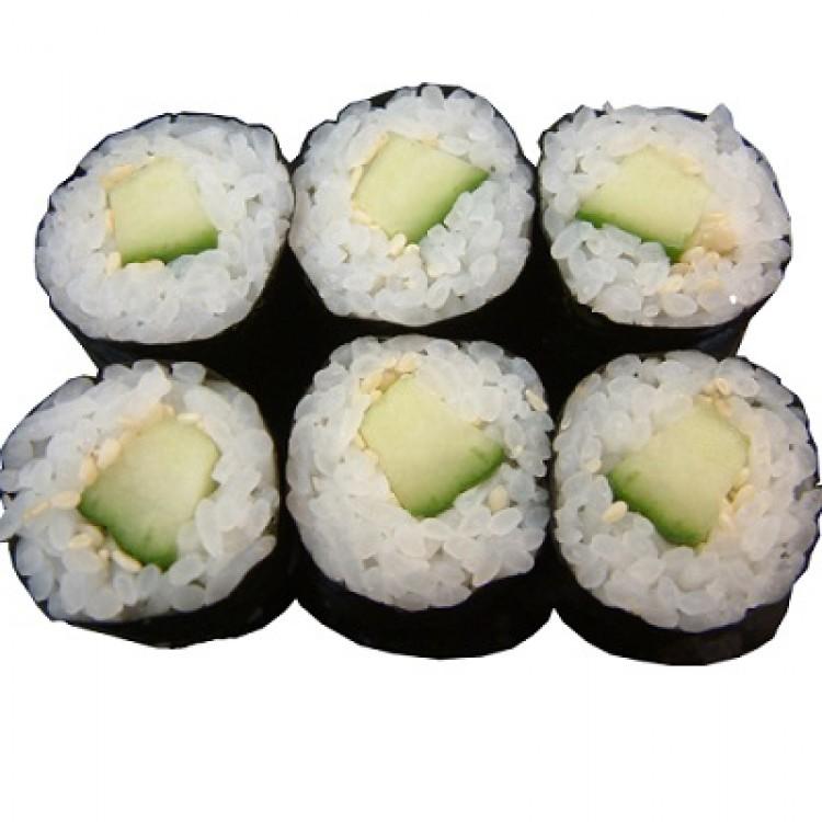 Komkommer maki halve rol (3 st.)